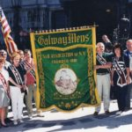 Galway group members assembling for the commemorative procession in Qubec City on Sunday 17 August 1997